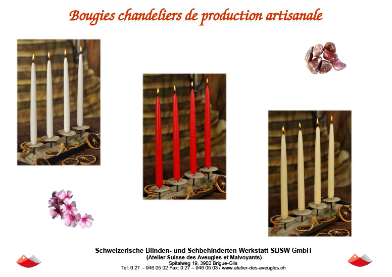 bougies de production artisanale