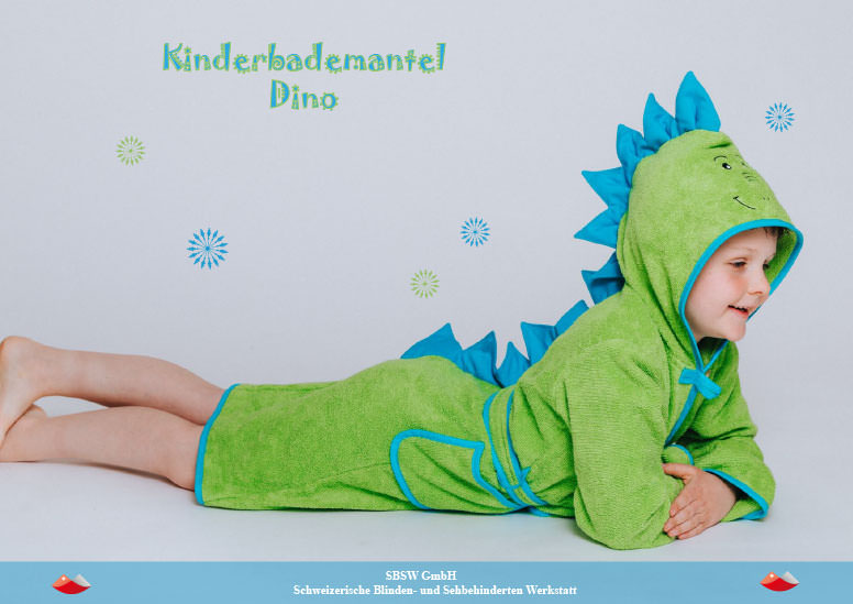kinderbademantel dino